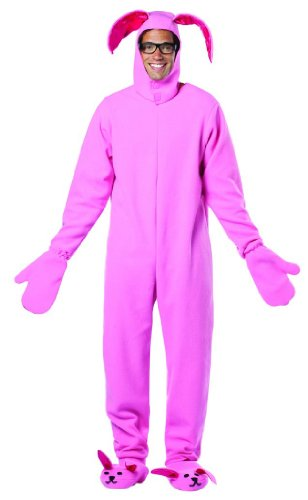 [Rasta Imposta A Christmas Story Bunny Suit Costume, Pink, One Size] (Male Bunny Costumes)
