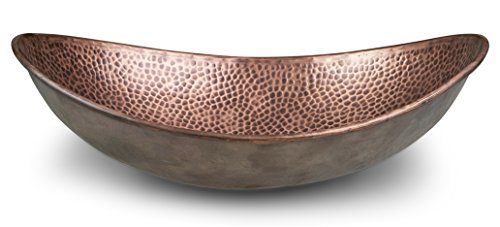 Monarch Abode 17086 Pure Copper Hand Hammered Harbor Vessel Sink