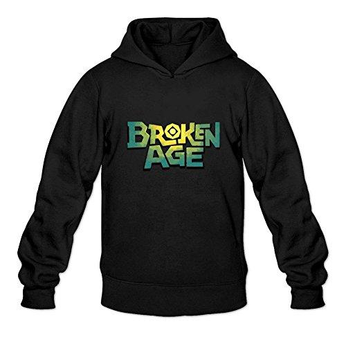 Uitgfgki Men's Broken Age Sweatshirt Hoodie XXL Black