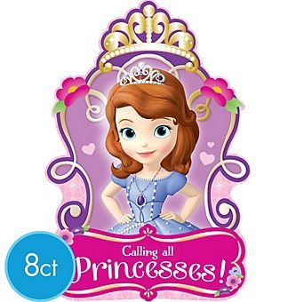 Sofia Princess Party Invitations Invite x16 Supplies]()