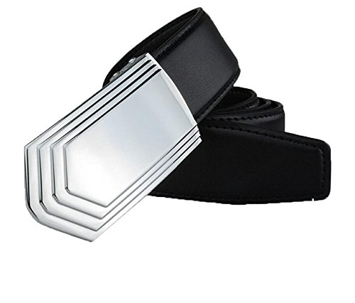 DIDIDD Men belts young fashion smooth buckle trousers (8125 Belt)