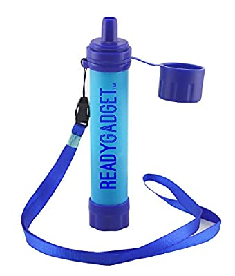 Ready Gadget Portable Water Filter System for Camping, Hiking, Backpacking, Prepping, Travel and Survival