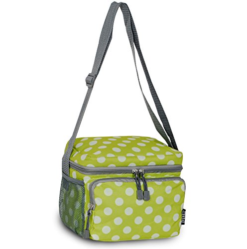 Everest Cooler Lunch Bag, Lime/White Dot, One Size