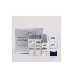 Iope Whitegen Skin Luminous Brightening Care Travel Kit Total 4pcs ( Softener + Emulsion + Ampoule Essence + Moisture Skin Soft Peeling Gel )