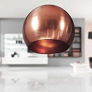 Lounge Zone Retro Pendelleuchte Hngeleuchte Pendellampe Hngelampe Leuchte Lampe Esszimmerlampe Wohnzimmerlampe CASQUE Warm Rot Matt