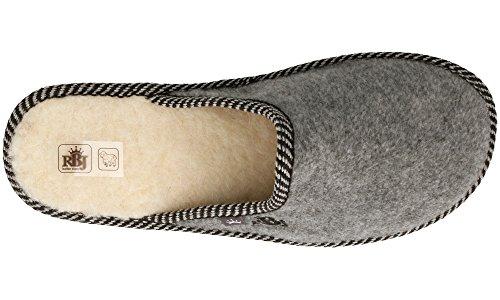 Hombre Lana Zapatillas De Transpirables De De Natural para Handmade Natural Opcional Casa de Bienestar en Caja Fieltro Calidad Gris Calientes Regalo xqwFtq0r