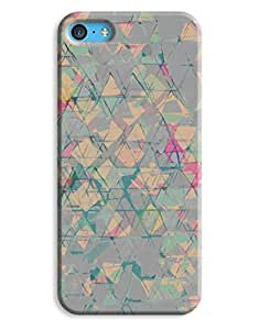 Blue Cloth Pattern iPhone 5c Hard Case Cover