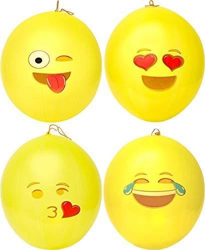 Emoji Universe: Emoji Punching Balloons, 12 Pack -