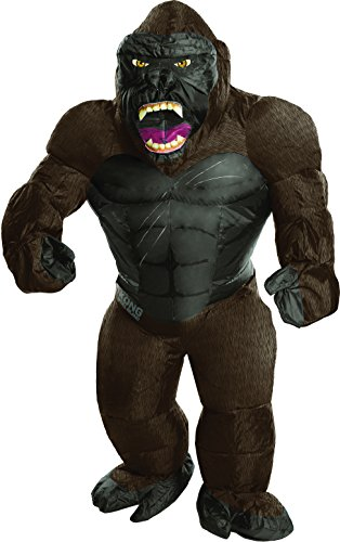 Kings Costume For Kids (Rubie's Costume Kong: Skull Island Child's Inflatable King Kong Costume, Multicolor, One)