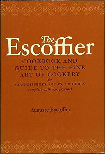 escoffier le guide culinaire pdf