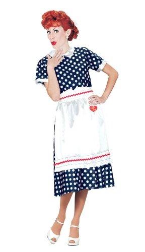 Lucy Poka Dot Dress Costume - Plus Size 1X/2X - Dress Size (Plus Size I Love Lucy Costume)
