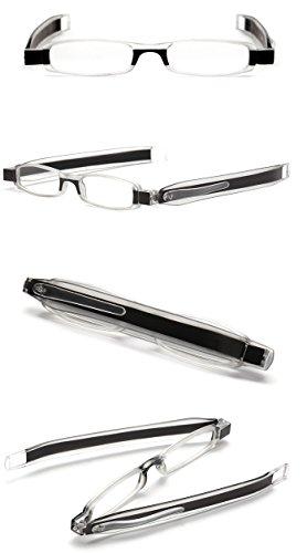 d804b5c08e SOOLALA Best Gifts 5-Pairs 360 Rotating Tube Pen Clip Folding Reading  Glasses