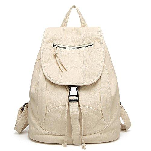 C cuir en double bandoulière sac rétro sac étudiant à Aoligei Lavé cuir sac qgTOHO