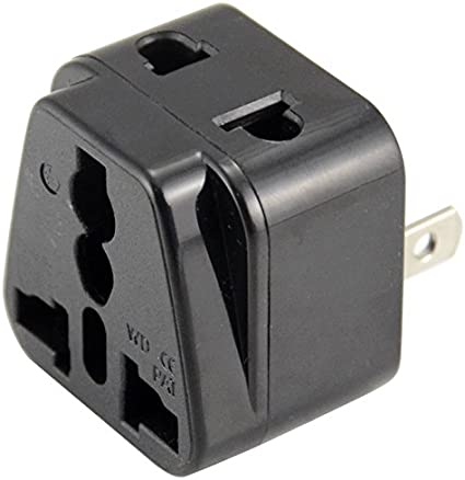 New Travel Adapter//Plug in convert 220v to 110v Adapter 1Pc Home Office EU to US