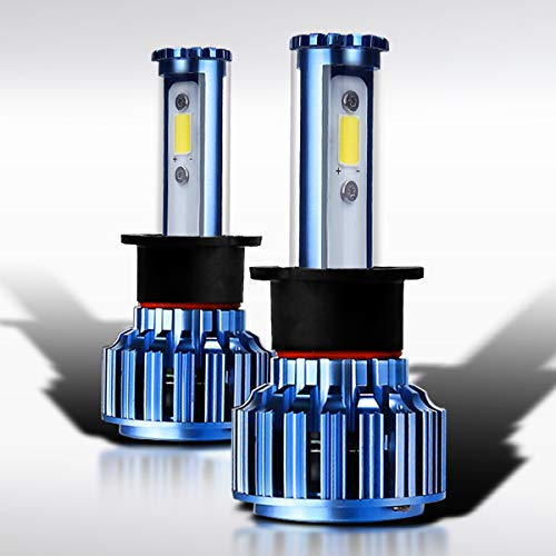 Autozensation Super White Automotive Cree 6000k LED Conversion Kit Pair Headlight Bulbs H3