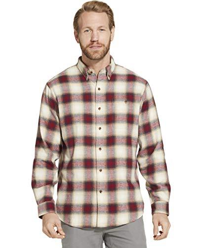 Good Flannel - Dam Good Supply Co Men's Long Sleeve Flannel Shirt XLT X-Large Tall Bone White 2