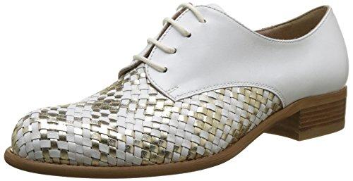 Donna Piu 51939 Dora, Zapatos de Cordones Derby para Mujer Blanc (Capra Mix Bianco Platino/Capra Bianco)