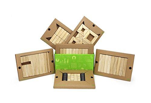 130 Piece Tegu Classroom Magnetic Wooden Block Set, Natural by Tegu