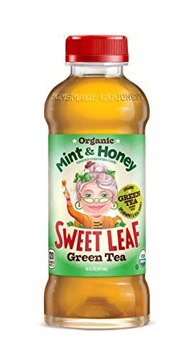 Sweet Leaf Tea Iced Green Tea - Mint and Honey - Case of 12 - 16 Fl oz. by Sweet Leaf