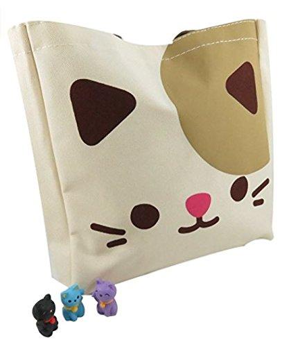 Daiso Cute Kitty Cat Tote Bag Purse