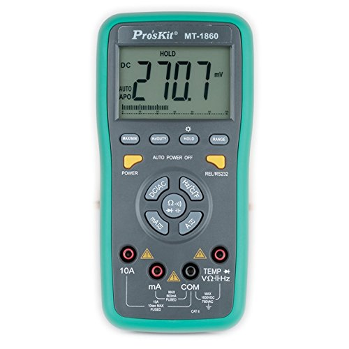Pro'sKit MT-1860 Multimeter, Dual Display with PC Interface