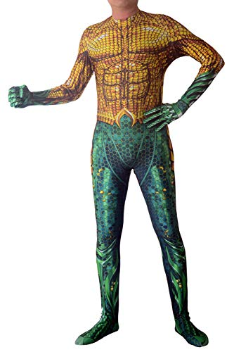 Unisex Cosplay King of Atlantis Spandex Lycra Zentai