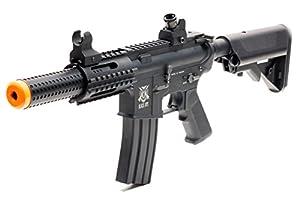 Amazon.com : Black Ops SR4 CQB AEG Rifle - Electric Fully Automatic Airsoft Gun - Upgradeable ...