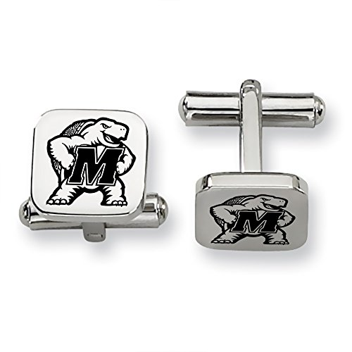 Maryland Terrapins Stainless Steel Square Cufflinks