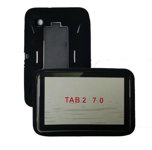 [Rhino] TM Black Heavy Duty Rugged Impact Hybrid Case with Kickstand for Samsung Galaxy Tab 2 (7.0 Inch) Tablet