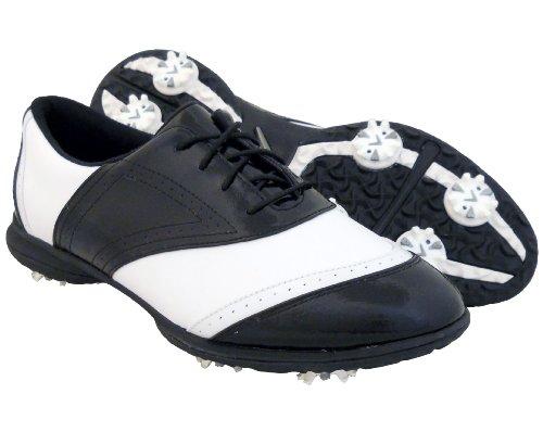 Callaway Women's Jacqui W475-12 Golf Shoe,White/Black,5 M US