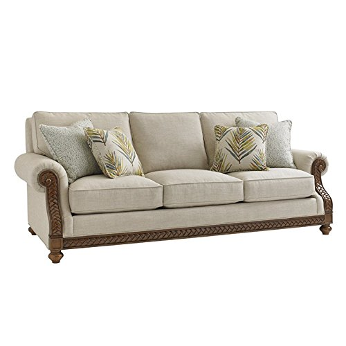 Tommy Bahama Bali Hai Shoreline Upholstered Sofa in Warm Brown