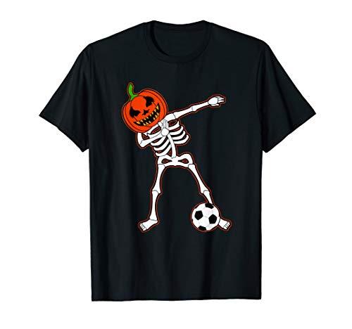 Dabbing Football Skeleton Halloween Soccer Gift]()