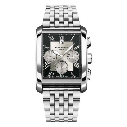 Raymond Weil Men's 4878-ST-00268 Don Giovanni Rectangular Case Automatic Movement Watch