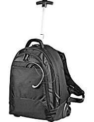 Navigator Deluxe 17 Laptop Computer Extendable Rolling Wheel Backpack, Black