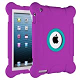 iPad Case, HHI iPad 4 with Retina display / The new iPad (3rd Generation) / iPad 2 Kids Fun Play Armor Protective Case - Purple (Package include a HandHelditems Sketch Stylus Pen)