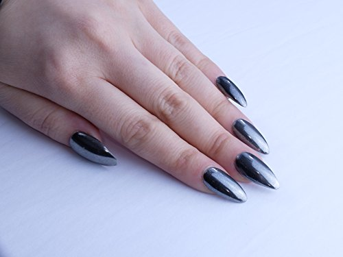 Gunmetal Black Custom Press on Nails by Unicornails