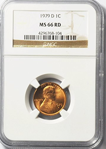1979 D Lincoln Memorial Cent Brilliant Uncirculated Denver 1c MS66 NGC RD