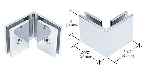 (CRL Chrome Square Style 90 Degree Glass-to-Glass Clamp)