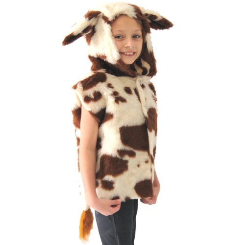 Charlie Crow Cow Costume for kids. One Size 3-9 Years.