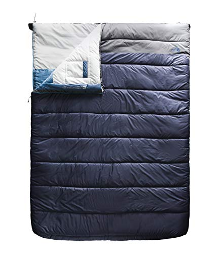 The North Face Dolomite Double 20F/-7C, Cosmic Blue/Zinc Grey, Long (North Sleeping Down Face Bag)