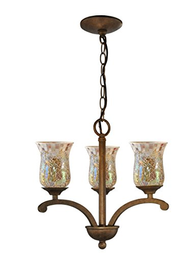 Springdale TH14285 Apsley Light Mosaic Hanging Fixture, Antique Golden Bronze