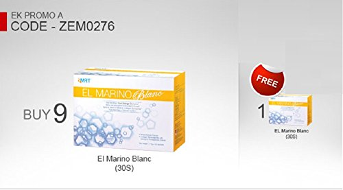 10 Box Elken El Marino Blanc ( Each box 7.5g x 30 sachets ) : The new formula to redefine your finest skin once again, Fairer, Firmer, Radiant and Glowing, Smoother Skin! by Elken