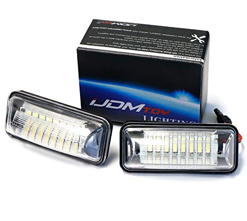 Subaru Impreza Lamp (iJDMTOY (2) Full LED License Plate Lamp Assy For Scion FR-S Toyota 86 Subaru BRZ Impreza WRX STi Legacy Crosstrek, OEM Replacement, Powered by 24-SMD Xenon White LED Lights)