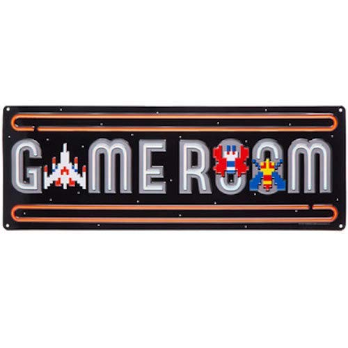 Game Room Galaga Metal Sign Wall Art Home Decoration Theater Media Room Man Cave