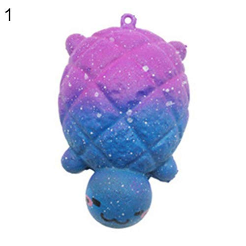 Finance Plan Galaxy Turtle Foot Charms Squishy Slow Rising Stress Reliever Kids Squeeze Toys Stress Relief Toy Squeeze Stress Relief Toys Soft Toys for Kids Children Adults Random Color