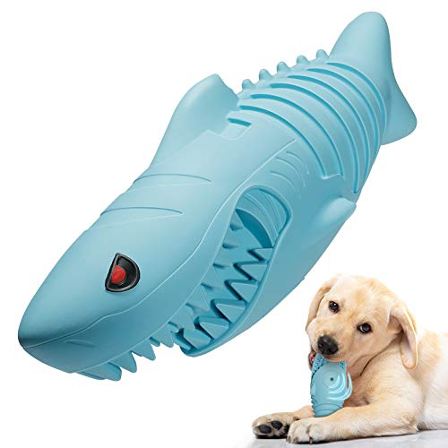 Dog Toys for Aggressive Chewers,DIAHOUD Durable Dog Chew Toys for Large Dogs Long Lasting,Interactive Dog Toys Milk Flavor Dog Teeth Grinding Toys (Blue)