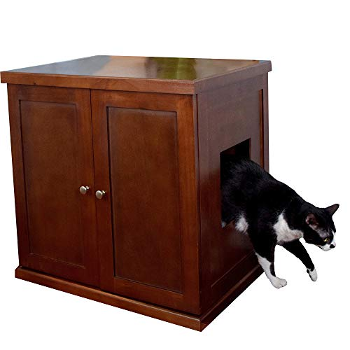 The Refined Feline RLB-MA Wood Cat Litter Box, Mahogany