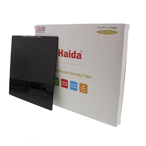 Haida PRO II Multi-Coated Square ND 3.6 4000X 12 Stops Optical Glass Neutral Density Filter, 150x150mm