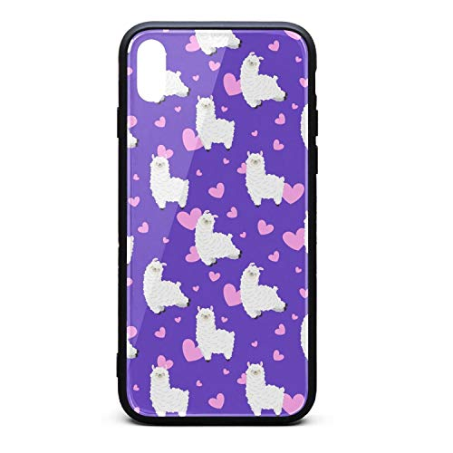 Phone case for iPhone Case Xs Max Cute Heart Llama TPU Gel Full Protective Perfectly fit Anti-Scratch Fashionable Glossy Anti Slip Thin Shockproof Soft