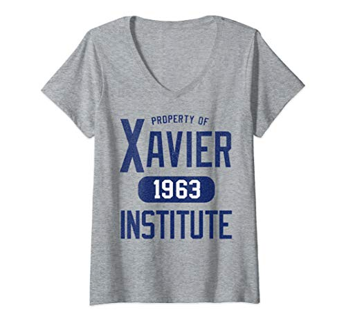 Womens Marvel X-Men Property Of Xavier Institute V-Neck T-Shirt]()